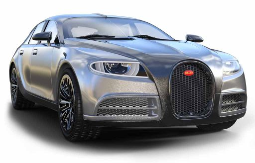 Bugatti voiture gris argenté Suisse